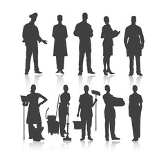 Set of people profession. Vector.