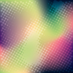 colorful halftone banner background