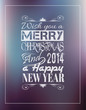 Merry Christmas Vintage retro typo background f