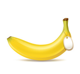 Banana and tag design, vector illustration