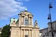 Warsaw, Poland - neoclassical church at Krakowskie Przedmiescie