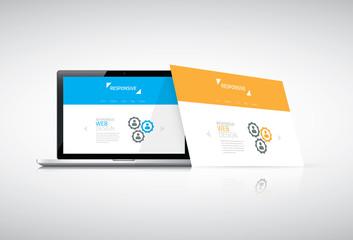 Modern responsive web design concept vector