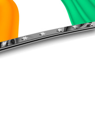 Designelement Flagge Elfenbeinküste