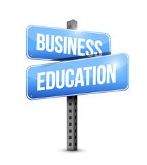 business education road sign illustration design