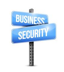 business security road sign illustration design