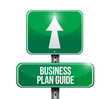business plan guide road sign illustration