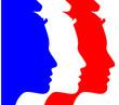 Постер, плакат: Marianne tricolore