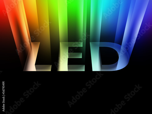 canvas print picture Light-emitting diode (LED) - sign with beam
