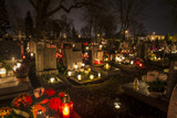 Cemetery in Poland on All Saints Day