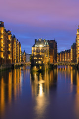 Historic warehouses in Hamburg