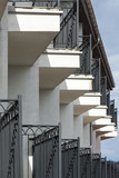 Balconies in a row