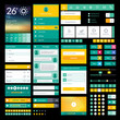 Set of flat icons and elements for mobile app and web design