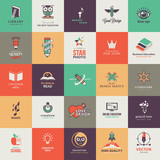 Fototapety Set of quality designed art and education icons