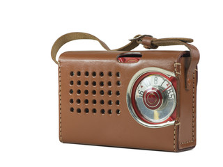 Antique Transistor Radio Leather Case