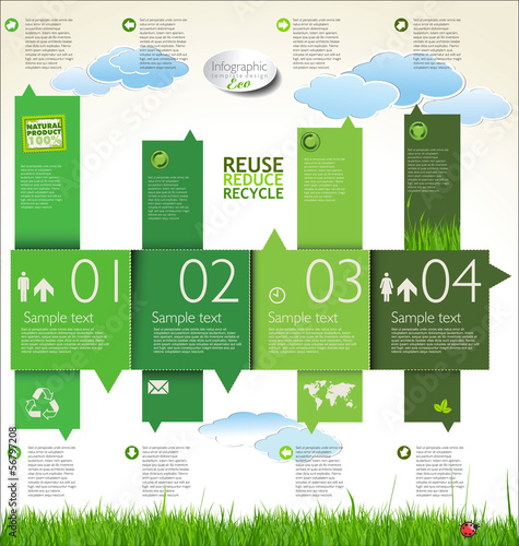 Infographic ecology template design