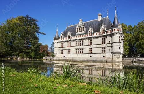 Chateau de Azay le Rideau. France. Chateau of the Loire Valley.