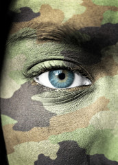 Soldier portrait closeup