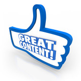 Great Content Thumbs Up Feedback Website Approval