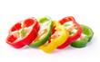 pepper sliced on white background