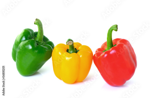 pepper on white background