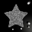 Illustration of a posh star symbol made of many spheres