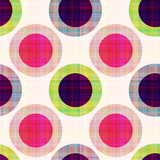 seamless geometric polka dots pattern