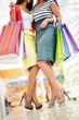 Shoppers legs