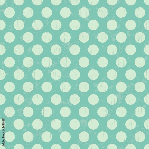 seamless retro grunge polka dots background