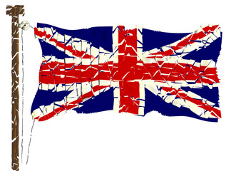 Grunged Union Jack Flag