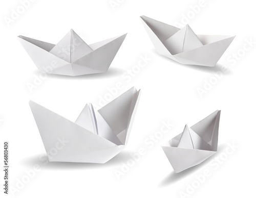 Set of real photos on four paper ships - 56803430