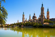Summer view of Cathedral in Zaragoza