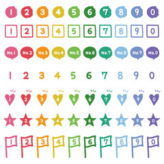 手描きの数字アイコン  / number icon