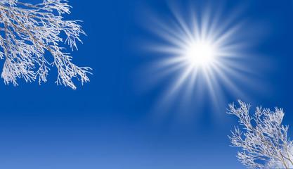 Soleil et ciel d'hiver