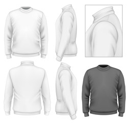 Men's sweater design template