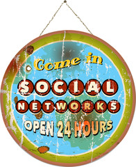 Social network sign, vector illustration