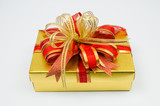 gold colored gift box