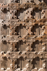 Antique Wooden Background - Church Door