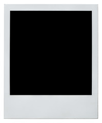 polaroid instant photo frame right side isolated on white with c