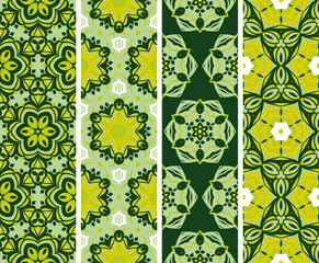 Set seamless  floral desing pattern. Vector, illustration