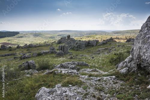Chaos of limestone at Nimes-le-vieux, Cevennes' park in Lozere