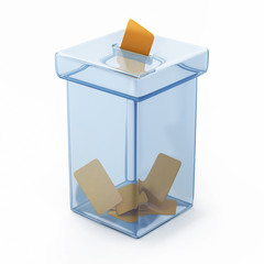 transparent vote box