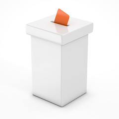 white vote box