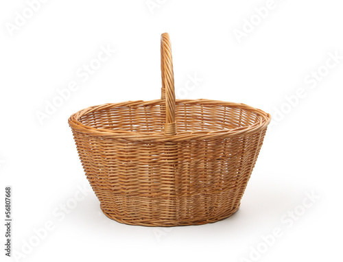 wicker basket, isolated