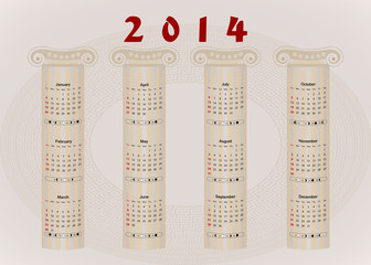 Calendar 2014 - Ancient Greek motifs