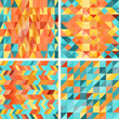 Seamless colorfull geometric patterns in retro style.