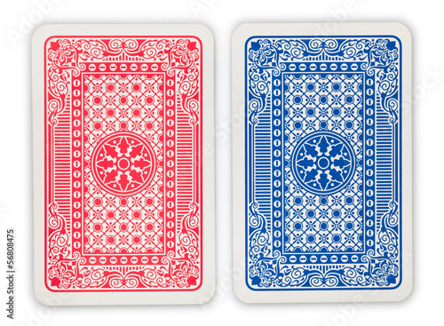 playing cards back - 56808475