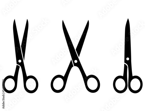 isolated black scissors - 56809030