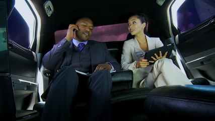 Business Leaders Wireless Tablet Smart Phone Chauffeur Driven Limousine