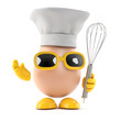 Chef Egg is ready with the whisk