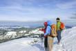 winterliche Aussicht am Gipfel